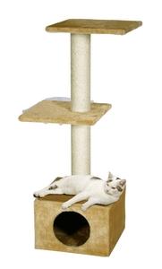 Arbre à chats beige 35x35x103 cm