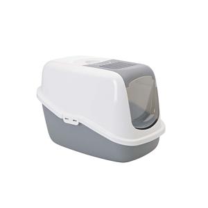 Maison de toilette Nestor Savic blanc/gris