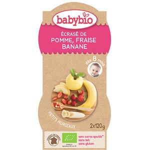 P'tits Fruits Pomme Fraise Banane bio BABYBIO