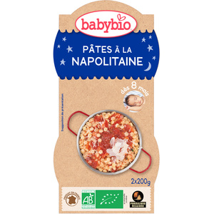 Bonne Nuit Pâtes Napolitaines bio dès 8 mois - 2 x 200 gr 45206