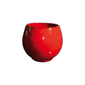 Pot Bahia coquelicot en terre cuite émaillée H 38 x Ø 35 cm