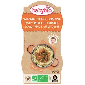 Menu Spaghetti Bolognaise bio BABYBIO