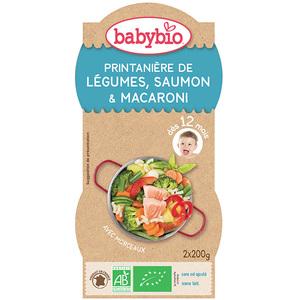 Menu Légumes Saumon Pâtes bio BABYBIO