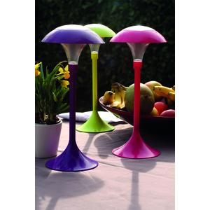 Lampe solaire de table verte d coration lumineuse for Lampe de terrasse solaire