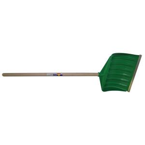 Poussoir à neige vert en plastique renforcé 47227