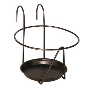 Porte pot soucoupe avec crochet gris Ø 16/18 cm 48180