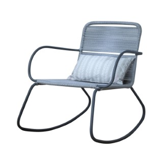 Rocking-chair Padro gris 73 x 84 x 84 cm