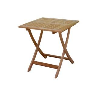 Table pliante carrée Costa en teck 70 x 70 x H 74 cm 487280