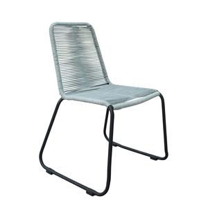 Chaise Padro grise en aluminium et polypropylène 60 x 60 x 90 cm