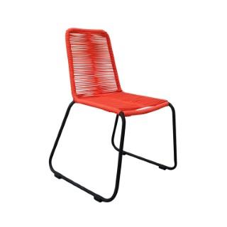 Chaise Padro rouge en aluminium et polypropylène 60 x 60 x 90 cm 487283