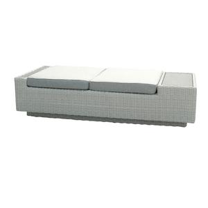Banquette 2 places Capella gris en aluminium, résine tressée et fibre-ciment 487287
