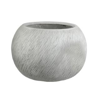 Pot rond Linea coloris blanc de 28 L Ø 36 x 28 cm