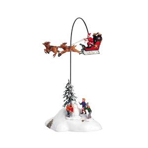 Figurine Lemax Père Noël arrive en ville collection Caddington Village