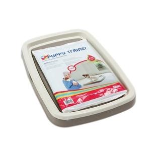Tapis ducateur chiots medium savic avec plateau hygi ne du chien savic animalerie botanic - Tapis educateur proprete pour chien ...