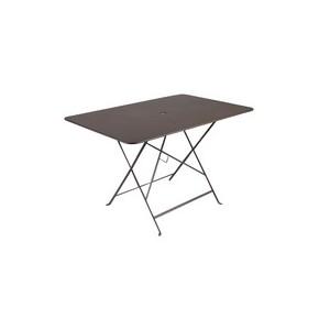 Grande Table pliante rectangulaire couleur Rouille 117 x 77 x 74 cm