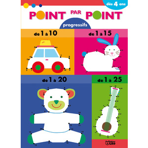Point par Point de 1 à 25 Point par Point Progressif 4 ans Éditions Lito 49941