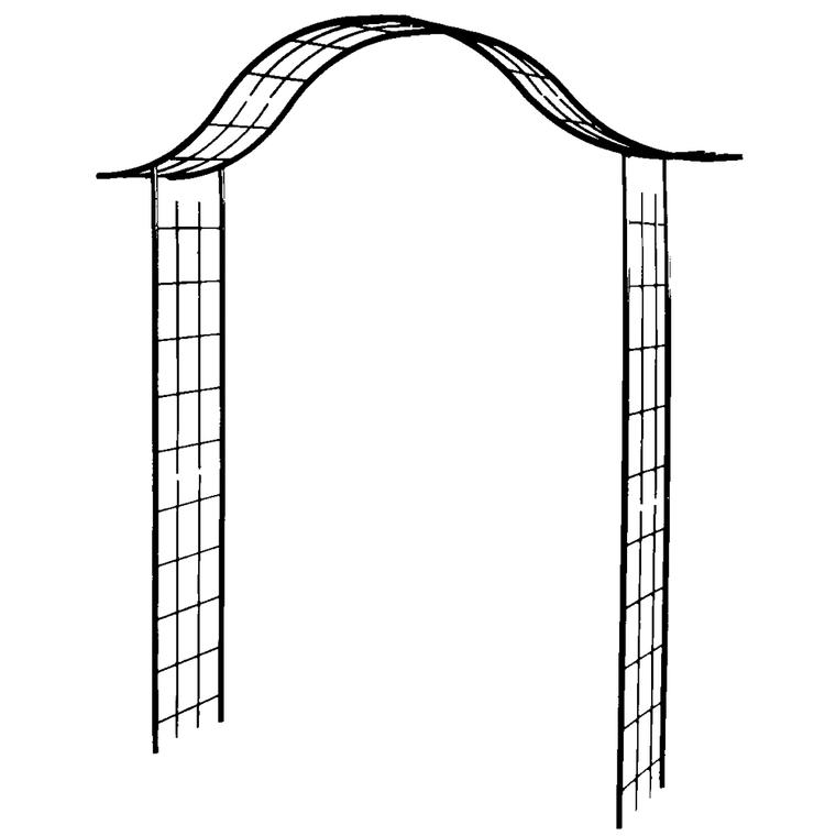 Arceau portique avec treillage