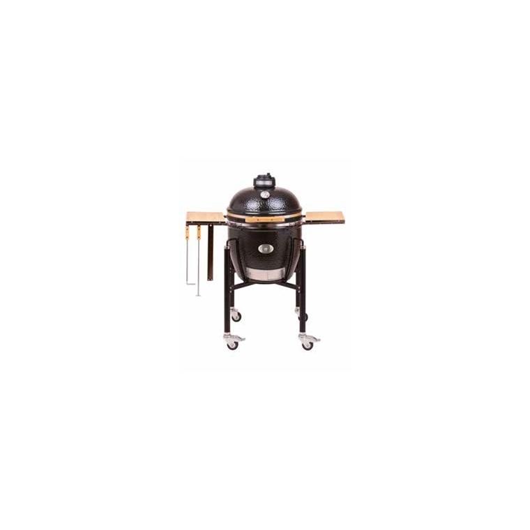 Barbecue fumoir monolith classic noir avec charriot 85 x 76 x 120 cm 400416