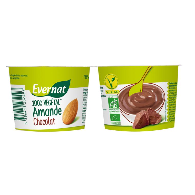 Dessert végétal aux amandes et au chocolat bio 200 g 404026