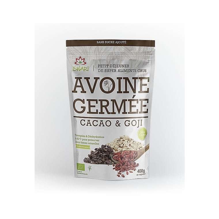 Avoine germée au cacao et goji bio 400 g 405610