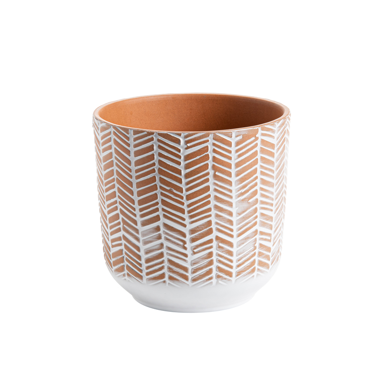 Cache-pot Grès motif Ø 13,5 cm Grès 406568