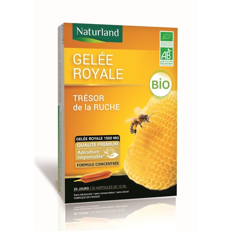 Gelée royale bio en format 20 x 10 ml et 25 % offerts 406870
