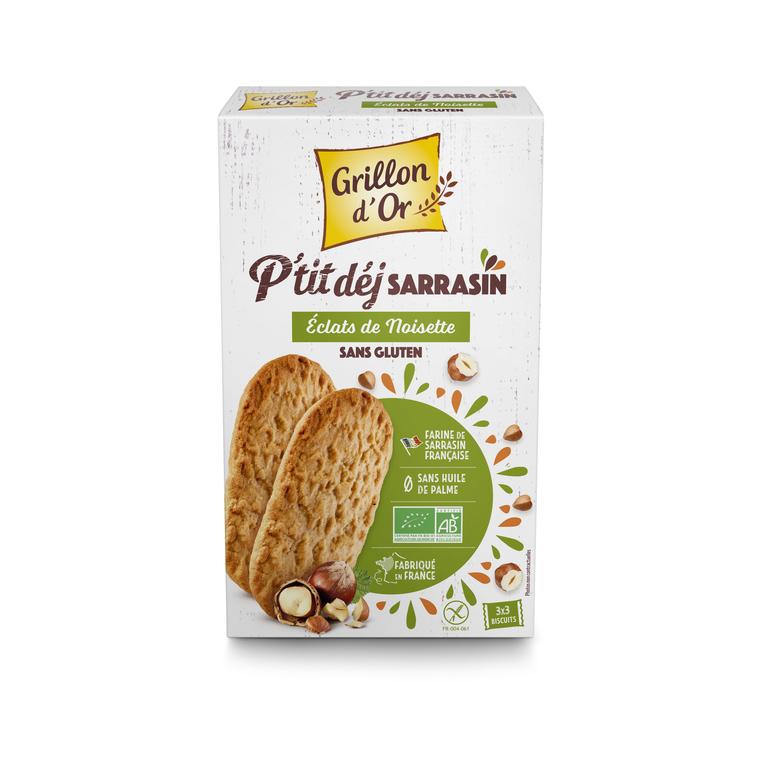 Biscuits petit déjeuner au sarrasin et noisettes bio 150 g 406992