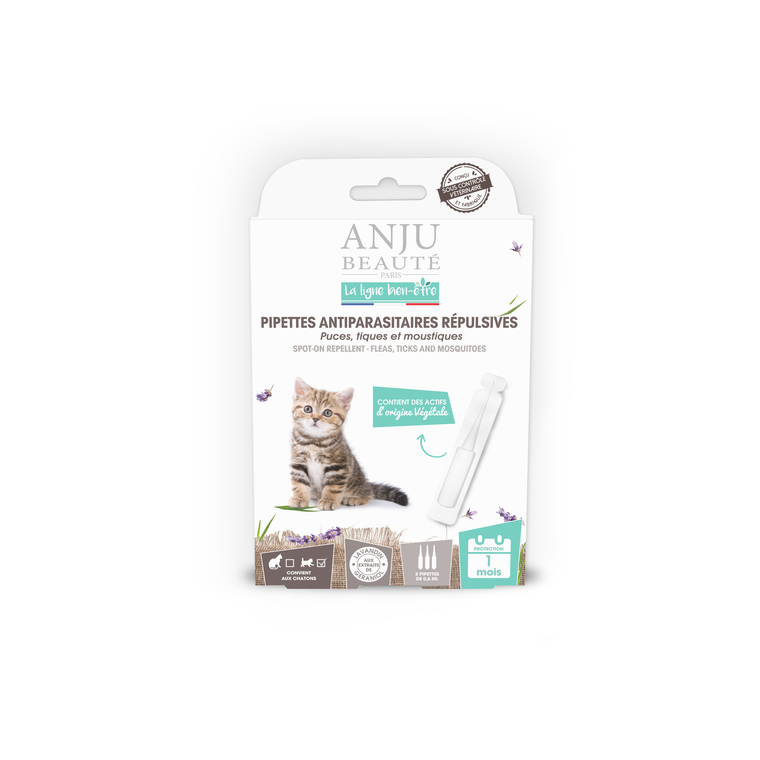 Pipette insectifuge pour chaton x 3 407144