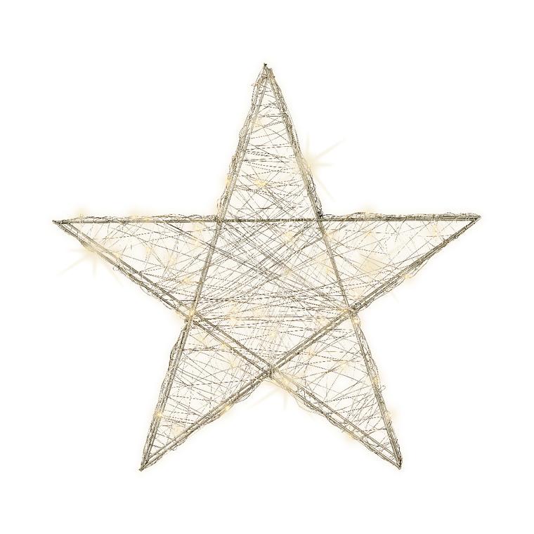 Étoile en fil beige à micro LED 7 x 50 x 47 cm 407864