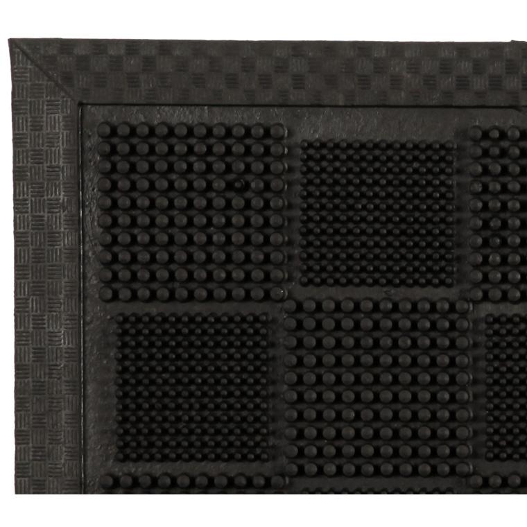 Paillasson d'extérieur Hilo noir en caoutchouc - 70 x 40 cm 41005