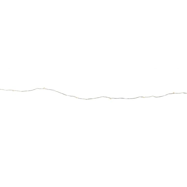Guirlande à micro LED blanc chaud de 4,5 V 12 m 410459