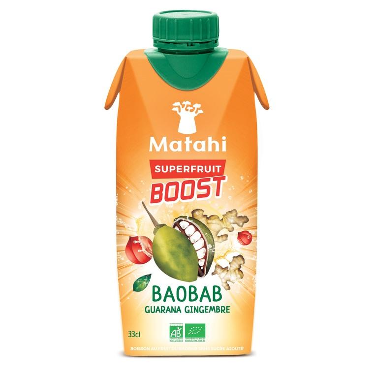 Matahi Boost Baobab/Gingembre en briquette de 33 cl 412951