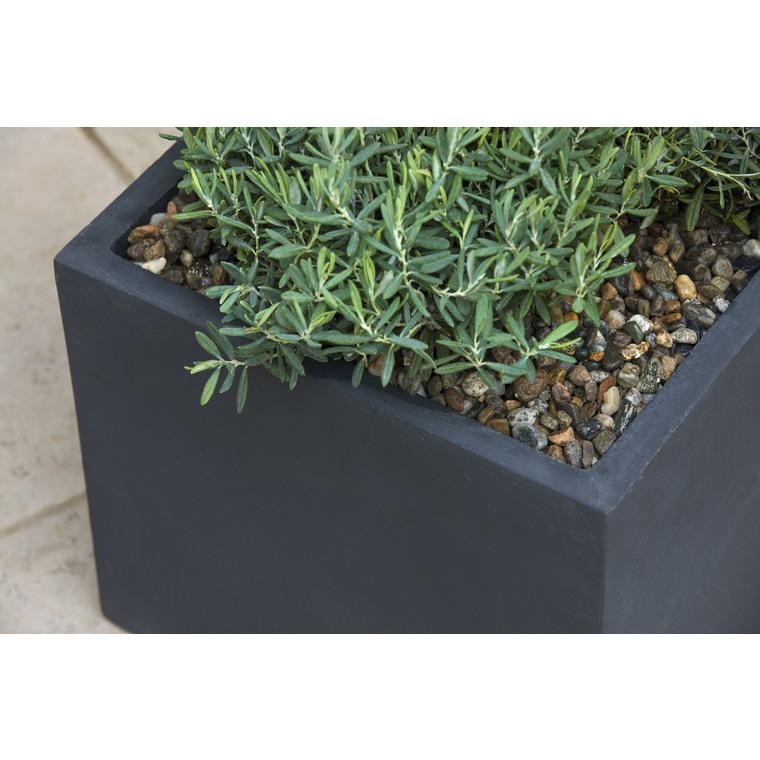 Graviers décoratifs de silice gris calibre 7 à 15 mm en sac de 10 kg 415888