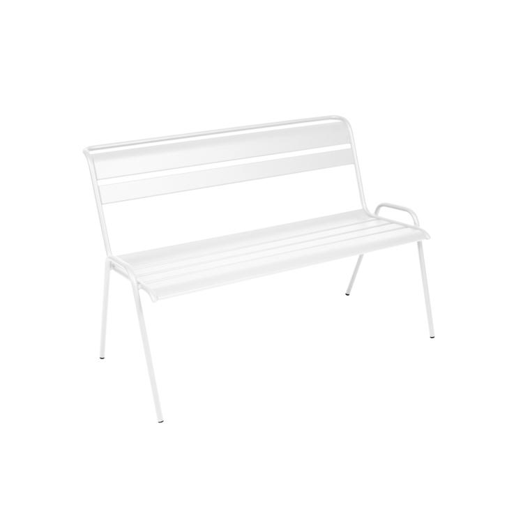 Banc Monceau Fermob en acier coloris blanc coton 116 cm 417550