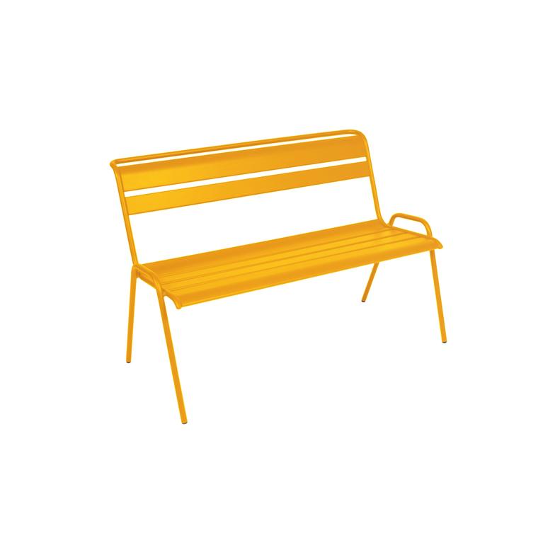 Banc Monceau Fermob en acier coloris miel 116 cm 417563