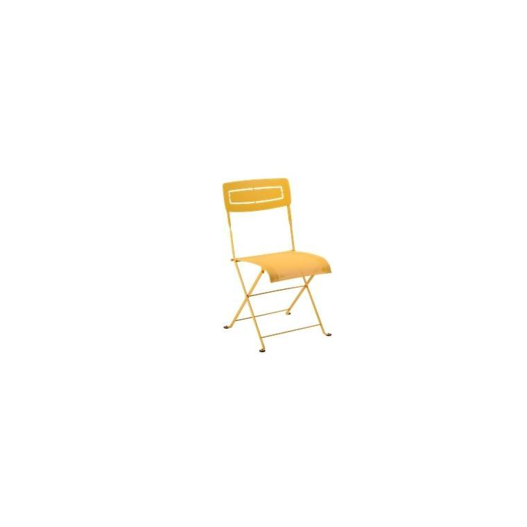 Chaise pliante SLIM acier Miel 417848