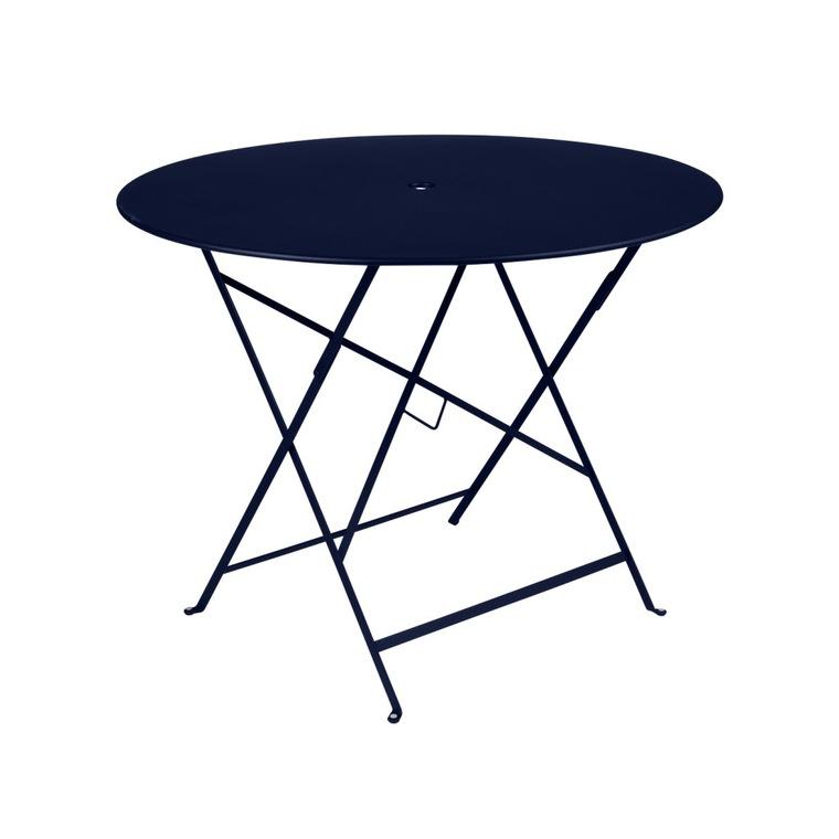 Table de jardin ronde pliante Bistro FERMOB bleu abysse 96 x h 74 cm 418204