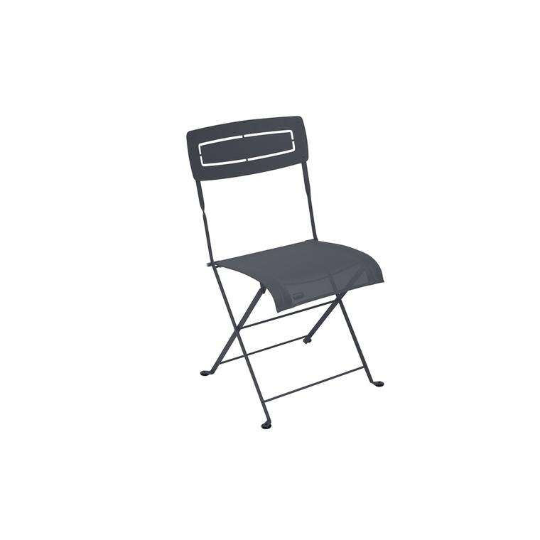 Chaise pliante slim noire de 50 x 47 x 88 cm 418222