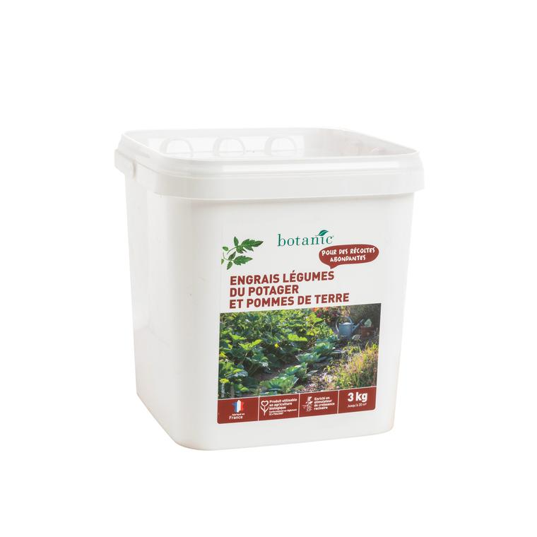 Engrais légumes du potager & pdt 3 Kg botanic® 418570