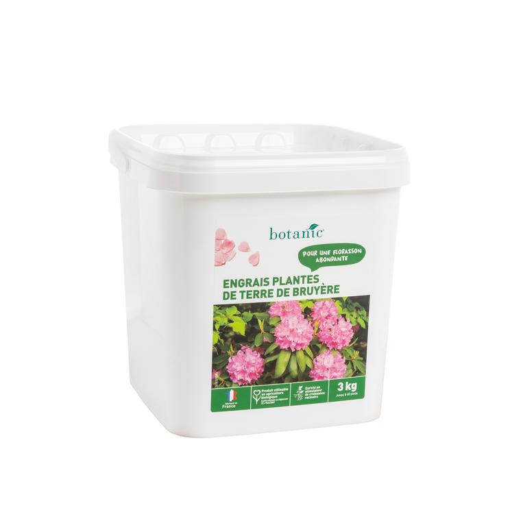 Engrais plantes de terre de Bruyère 3 kg botanic® 418626