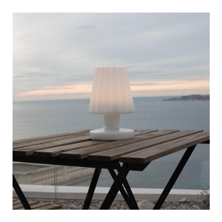 Lampe de table LED Batimex H 21 cm blanc chaud à chargement micro USB 421170