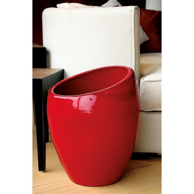 Pot Orion coquelicot H 40 x Ø 29 cm 42267