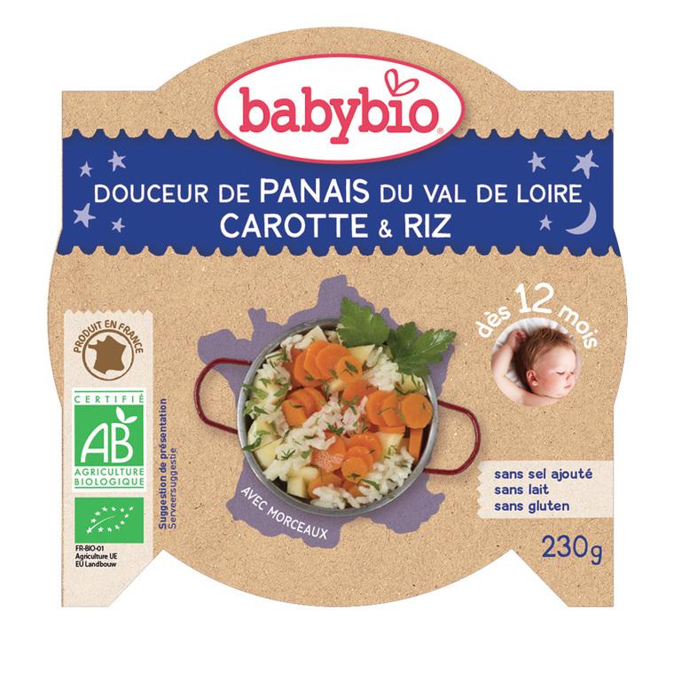 Bonne Nuit panais-carotte et riz bio 230 g 42515