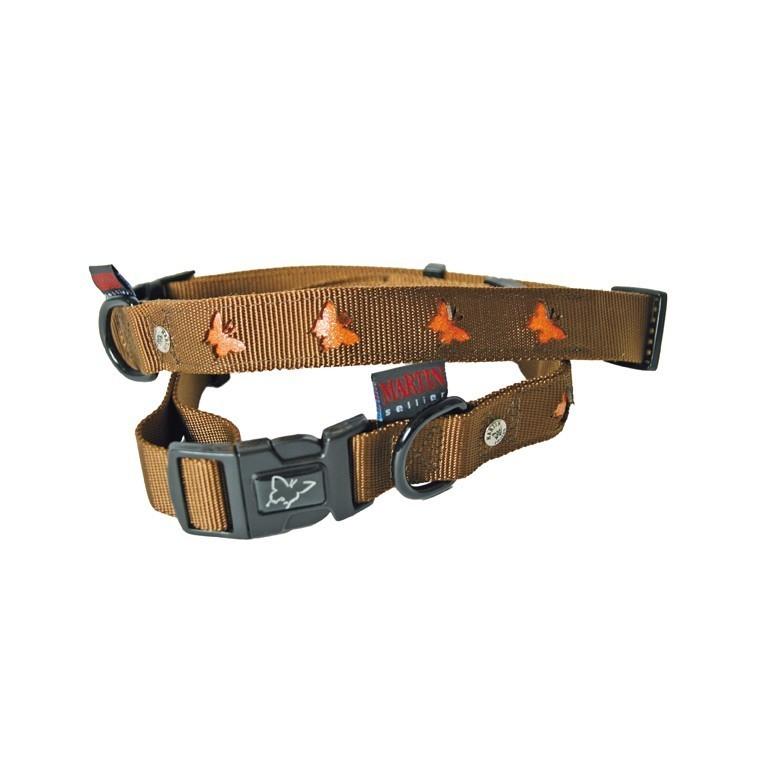 Collier chien 45-65cm papillons 25mm 435764
