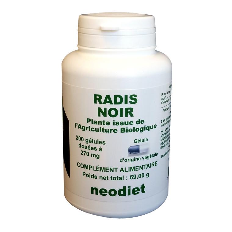 Gélules de radis noir bio en boite de 200 unités 450785