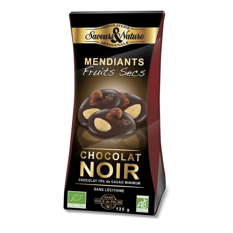 Sachet mendiants chocolat noir SAVEUR ET NATURE 450912