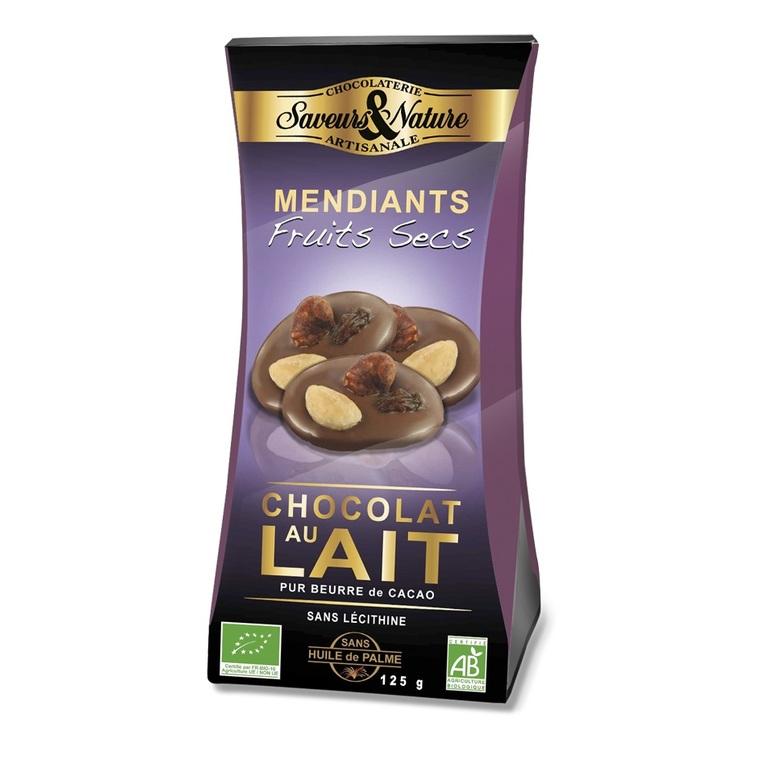 Sachet mendiants chocolat au lait SAVEUR ET NATURE 450913