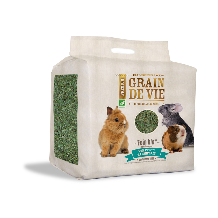 Foin bio XL petits mammifères Grain de vie® - 150L 45195