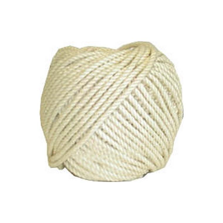 Pelote ficelle naturelle en coton câblé 2.5 mm - 100 gr / 35 m 466521