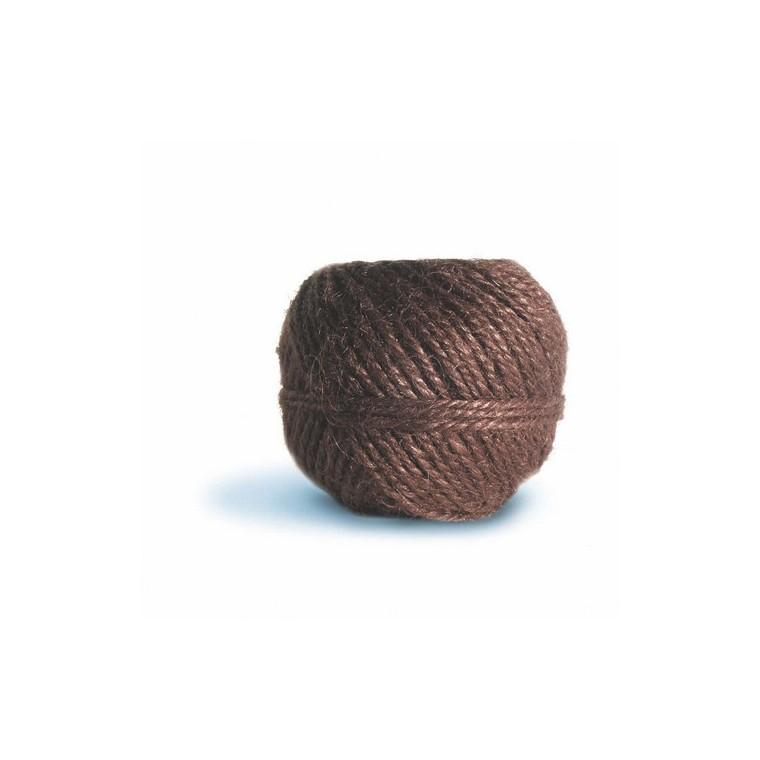 Pelote ficelle en jute couleur Châtaigne - 100 gr / 75 m 466528